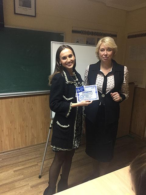 В учебном центре Успех выпустилась группа по курсу Риторика – ораторское искусство. Тренер Калинина Анна
