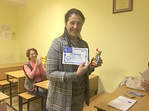 В учбовому центрі Успіх  випустилася група з курсу Садівник-дизайнер. Викладач Оверченко Тамара Михайлівна