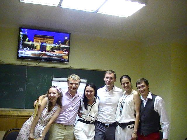 Последнее занятие группы по курсу риторики. Учебный центр Успех Киев